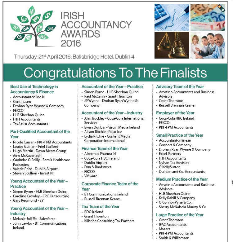 irish accountancy awards advert