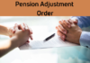 Pension adjustment order